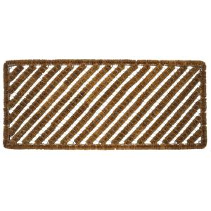 Entryways Rectangle Stripes 18 inch x 42 inch Wire Brush Coir Door Mat by Entryways