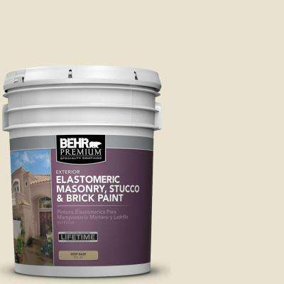 5 gal. #MS-33 Eggshell White Elastomeric Masonry, Stucco and Brick Exterior Paint