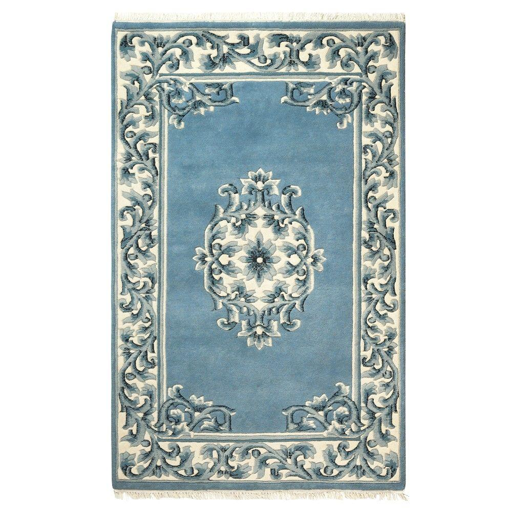 Home Decorators Collection Filigree Aubusson All-Over Blue 9 ft. x 13 ft. Area Rug