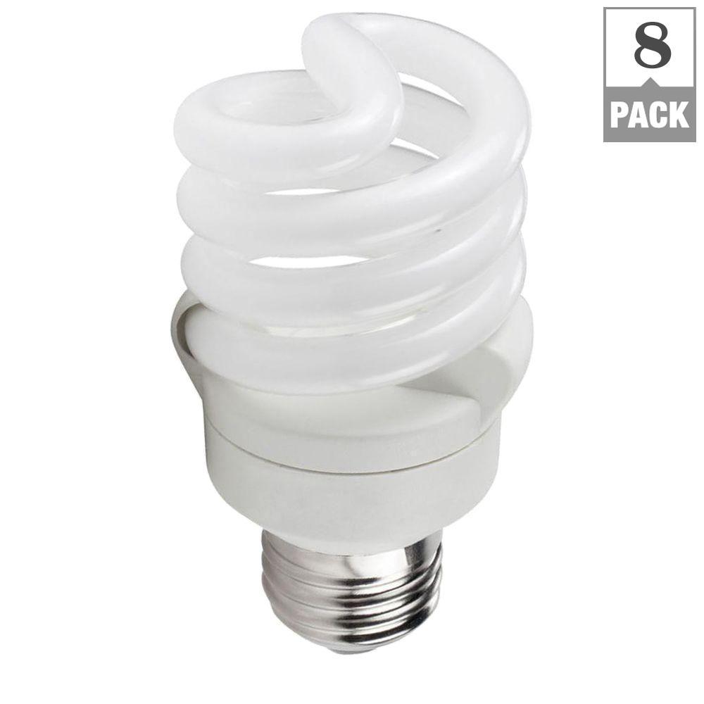 Philips 60-Watt Equivalent T2 CFL Light Bulb Soft White S...