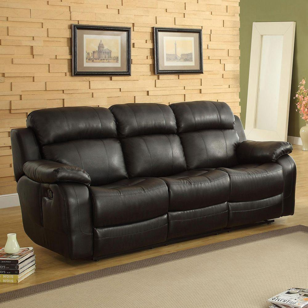 Kenwood Black Leather Sofa Part 49