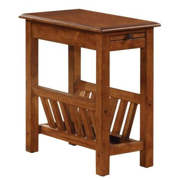 23 in. Impressive Height Brown Side Table
