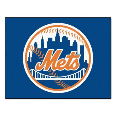 MLB New York Mets Blue 3 ft. x 4 ft. Indoor Area Rug