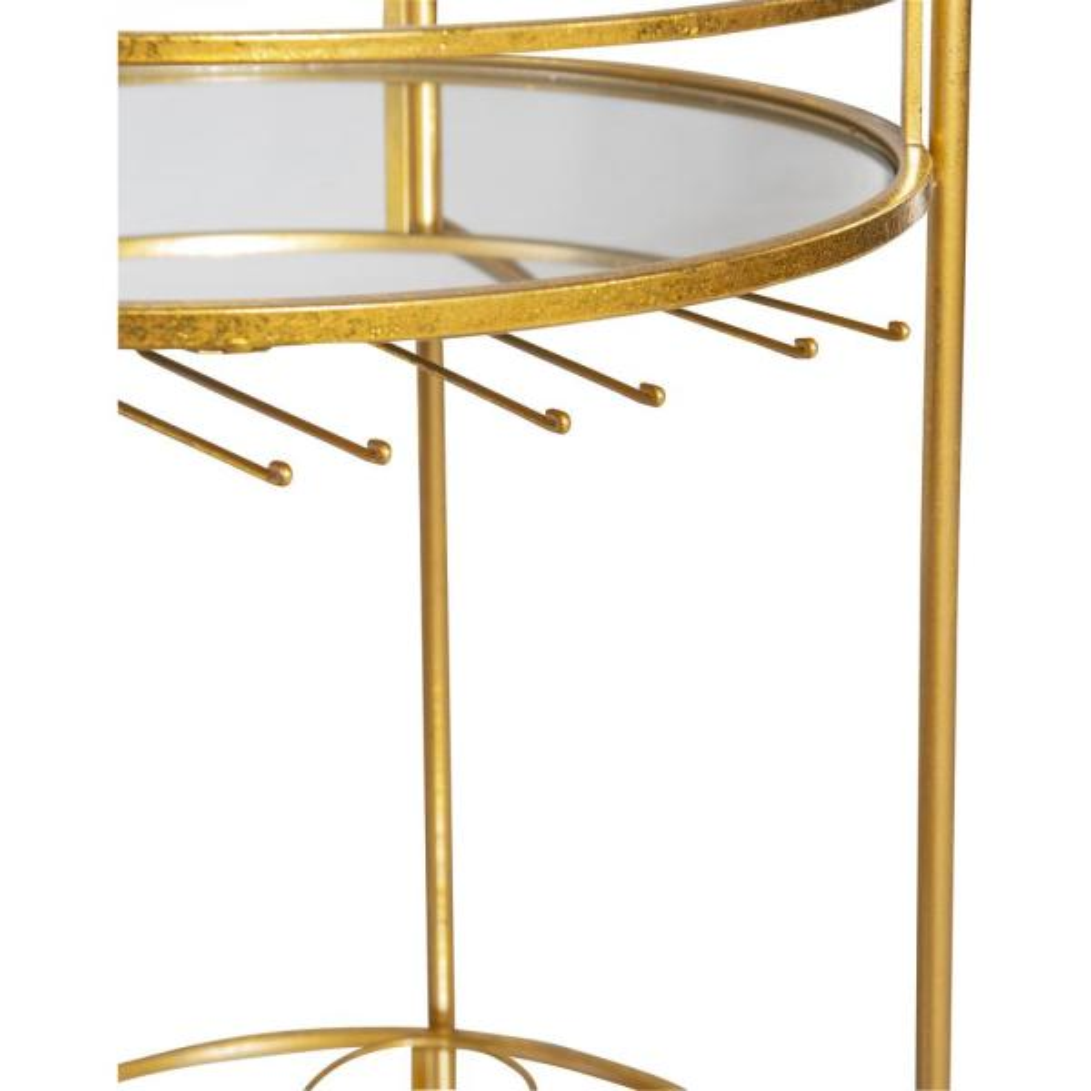 Linon Home Decor Round Gold Metal Bar