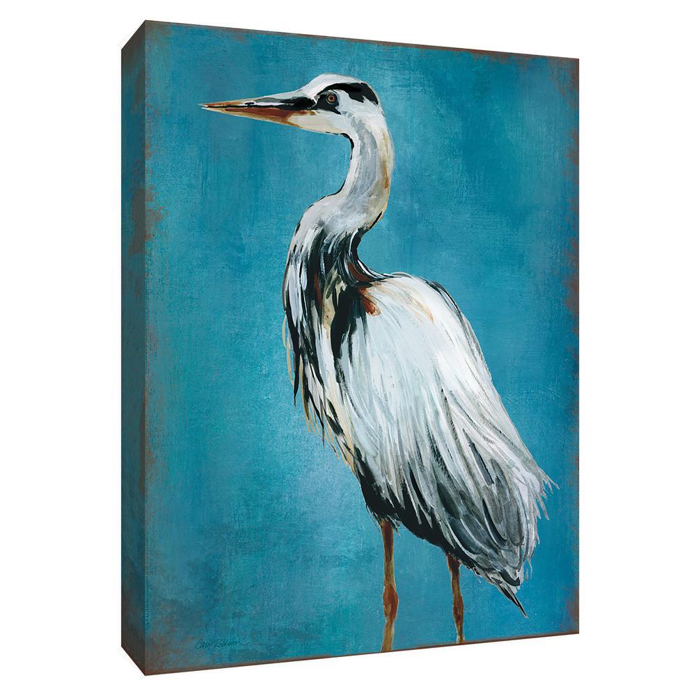 12 in. x 10 in. ''Great Blue Heron II'' Canvas Wall Art