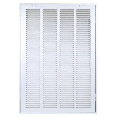 20 in. x 30 in. Steel Return Air Filter Grille White to Cover Rectangular Duct Opening of 20 in. W x 30 in. H