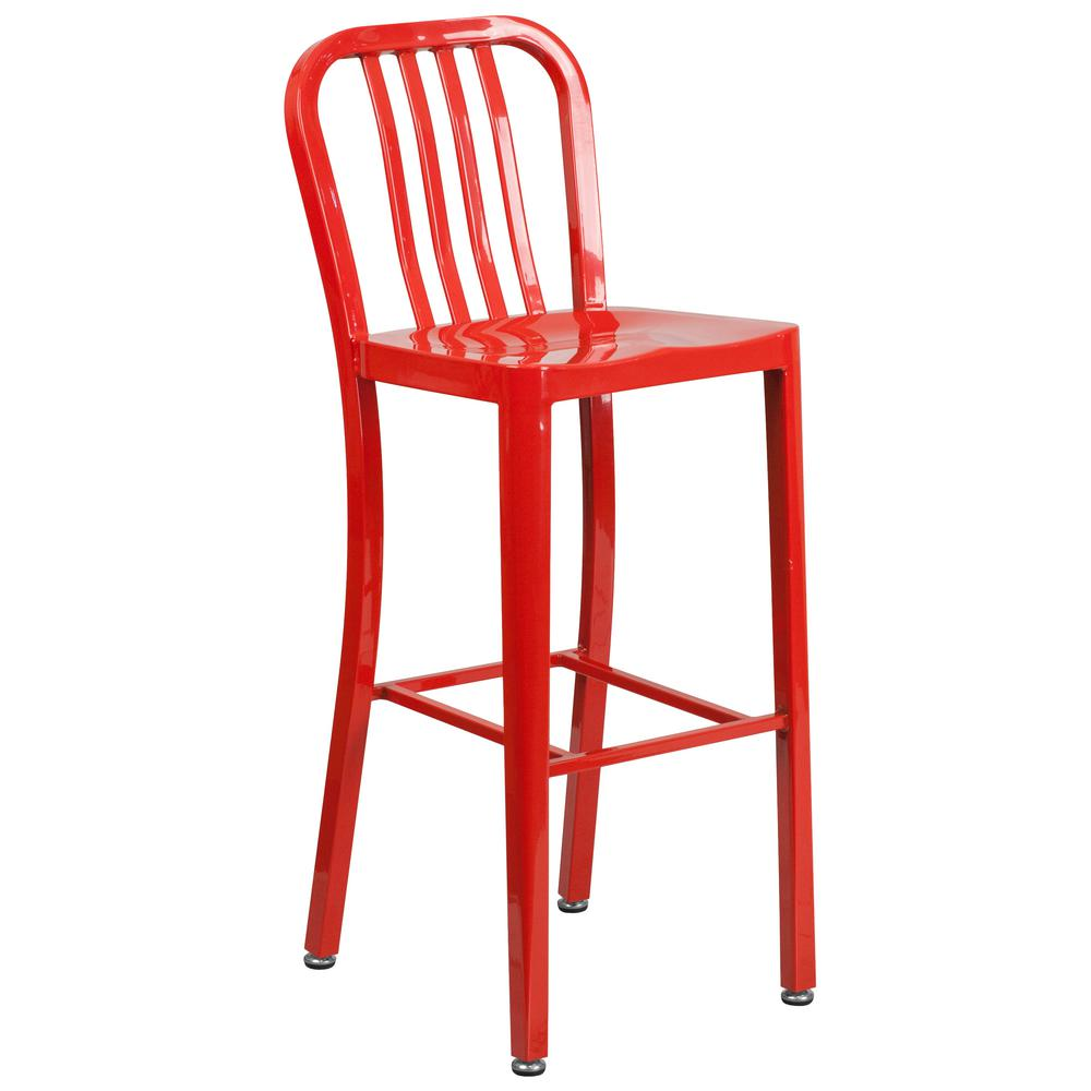 Flash Furniture 24 25 In Red Bar Stool Ch3132024gbred