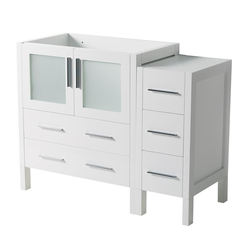 Fresca 42 in. Torino Modern Bathroom Vanity Cabinet in White-FCB62 ...