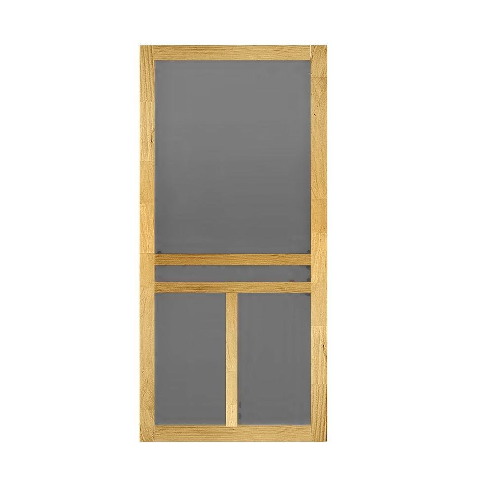 Exterior Screen Doors Home Depot: 32 In. X 80 In. T-Bar Wood Screen Door-WTBAR32