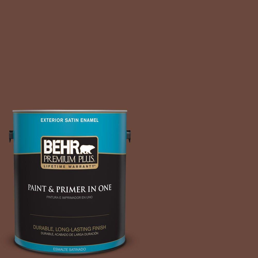 1-gal. #BXC-45 Classic Brown Satin Enamel Exterior Paint