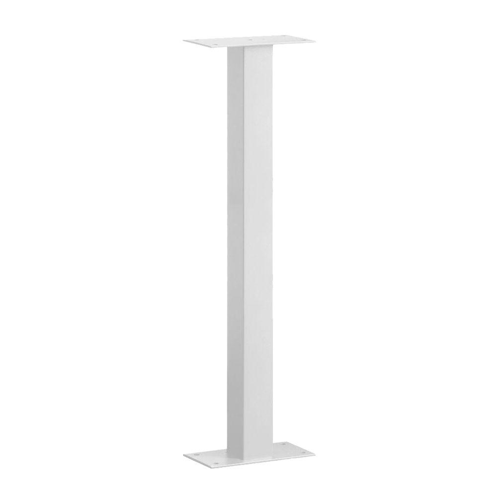 Standard Bolt Mounted Mailbox Post in White