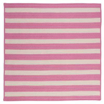Baxter Bold Pink 6 ft. x 6 ft. Square Indoor/Outdoor Braided Area Rug