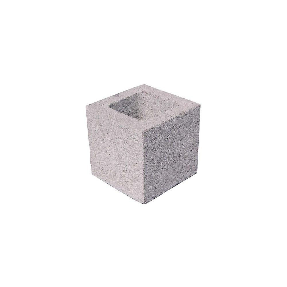 8 in. x 8 in. x 8 in. Gray Concrete Block