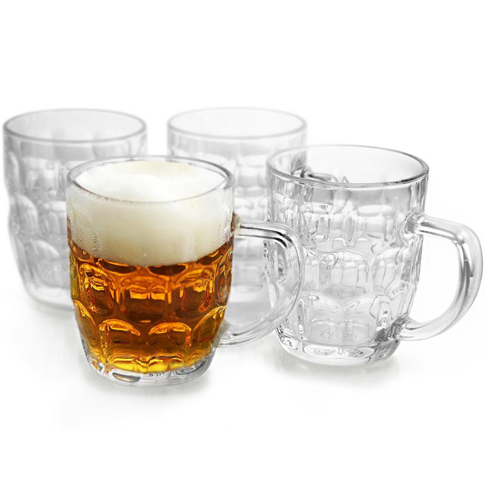 Store 18 oz. Glass Beer Mug (Set of 4)