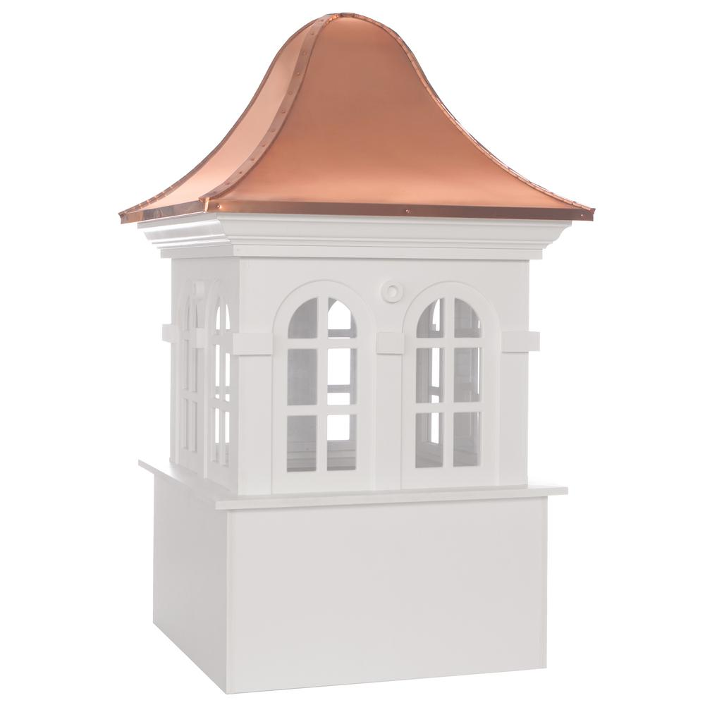 Smithsonian Rockville 26 in. x 42 in. Vinyl Cupola with Copper