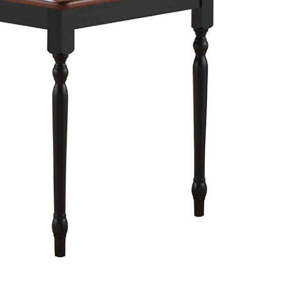 Benjara 45 In H Black And Brown Rectangular Ceramic Tile Top Dining Table With Turned Legs Bm183402 The Home Depot