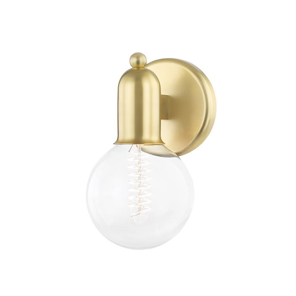 Bryce 4.75 in. 1-Light Aged Brass Vanity-Light