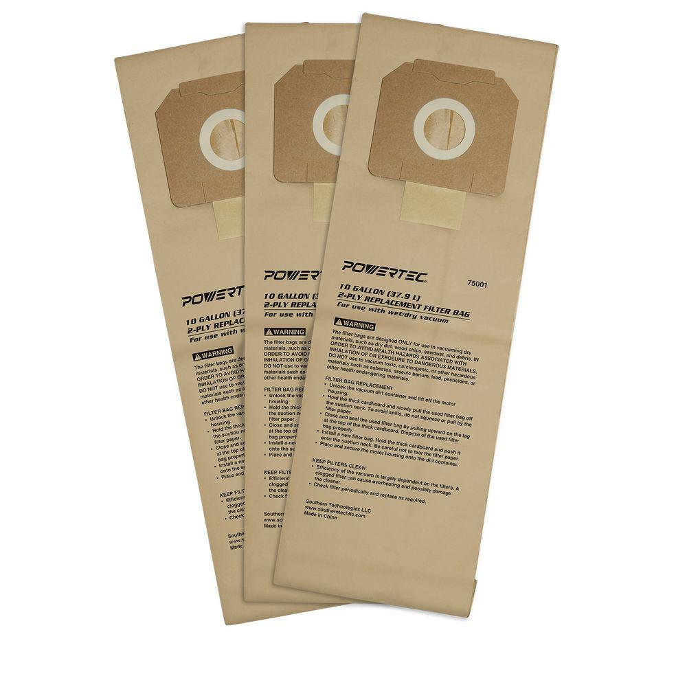 10 Gal. High Efficiency Filter Bags for D27904 and Porter-Cable 7812
