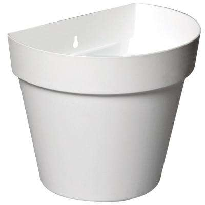 Rio 11 in. x 9.25 in. White Plastic Wall Planter