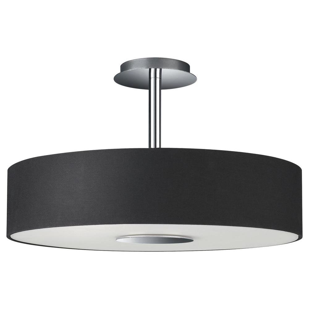 Dark Chrome Ceiling Lights : Philips dani light chrome and black ceiling fixture