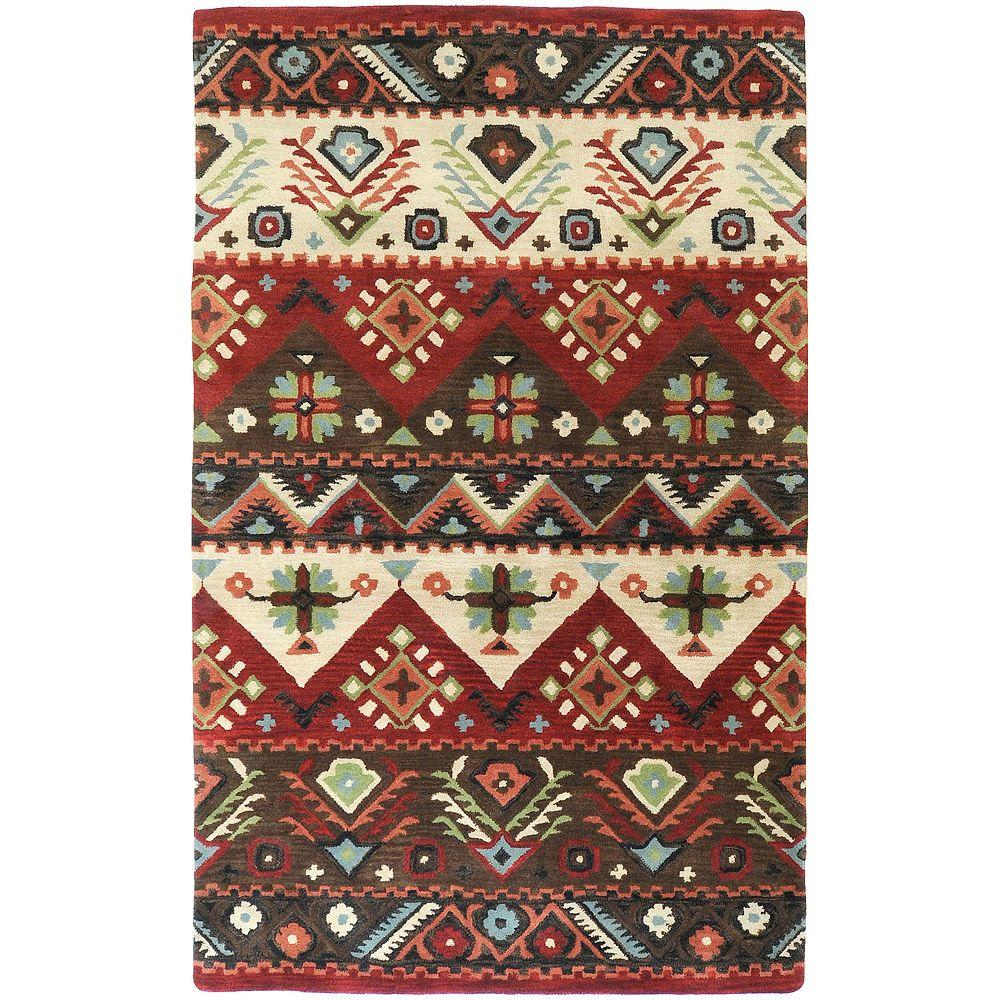 Artistic Weavers Pender Burgundy 5 ft. x 8 ft. Area Rug