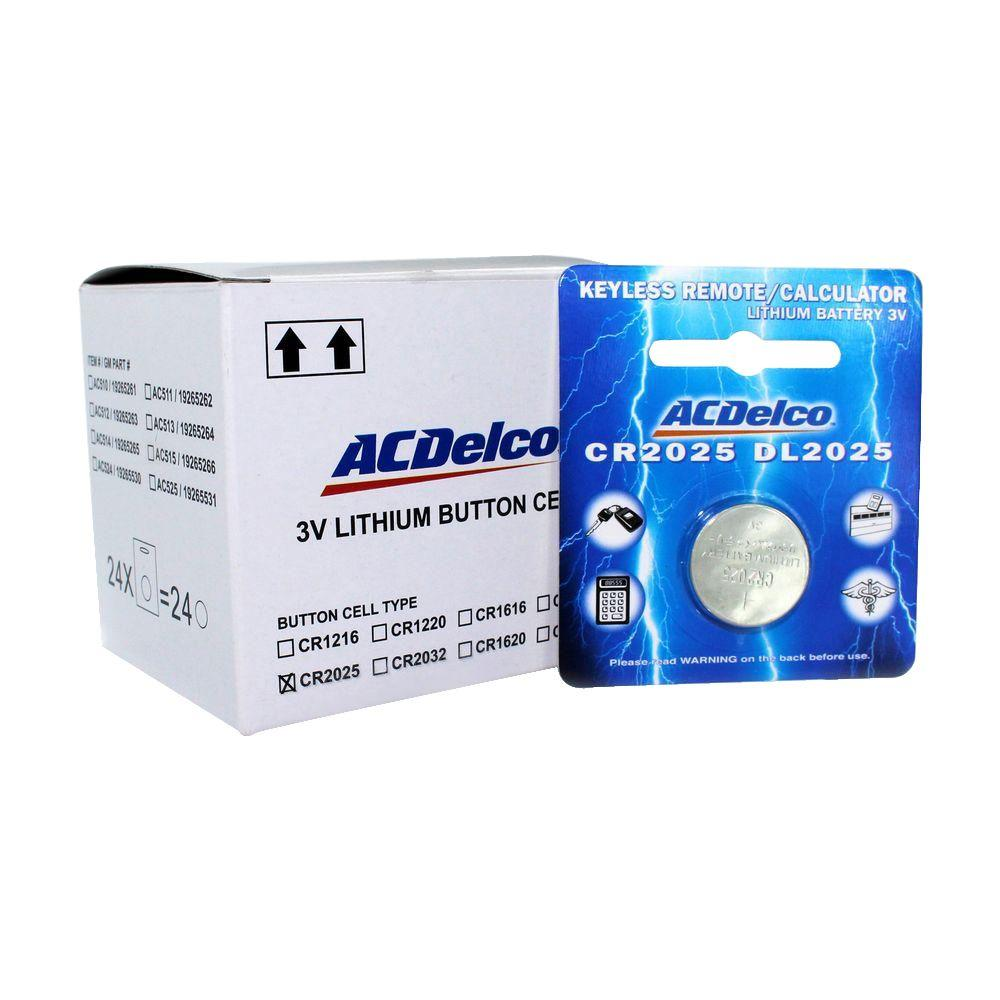 ACDelco Lithium Button Cell CR2025 3-Volt Battery (24-Pack)