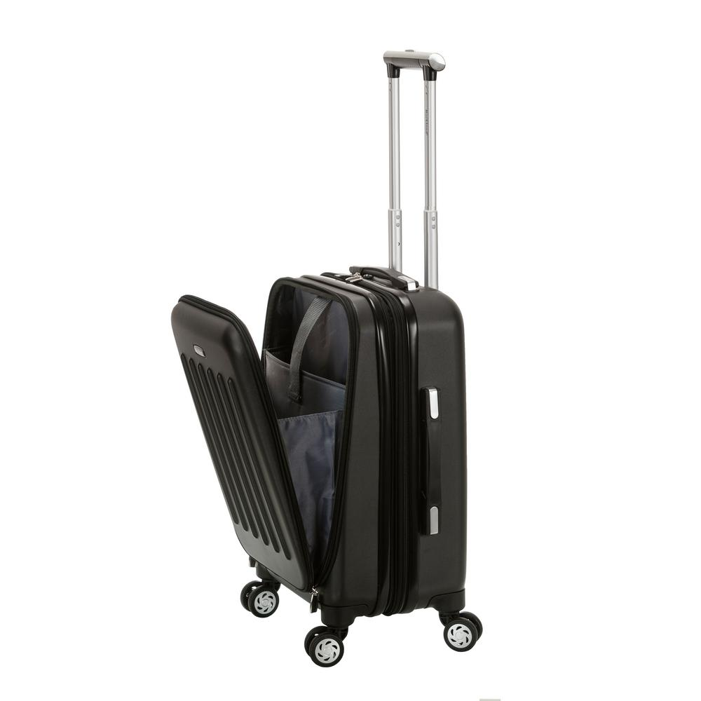 Rockland Expandable Titan 19 in. Hardside Spinner Laptop Carry-On Suitcase, Black