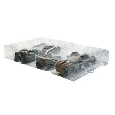40 in. x 24 in. x 6 in. Under Bed Crystal Clear Shoe Storage Bag