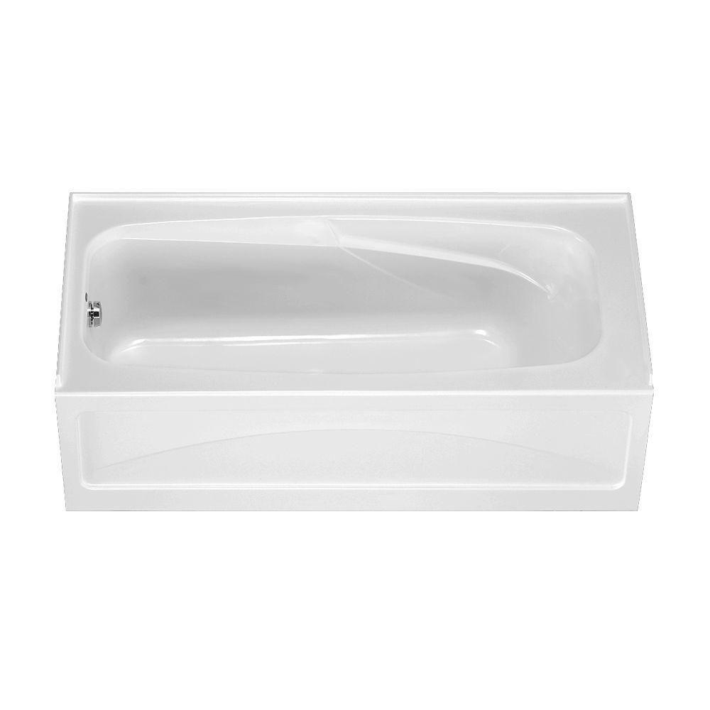 American Standard Colony 5.5 ft. x 32 in. Left Drain Soaking Bathtub ...