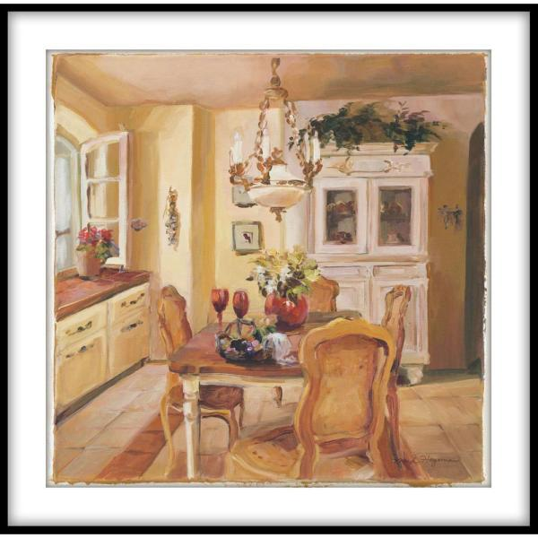 PTM Images 13.75 in. x 13.75 in. ''French Kitchen I'' Framed