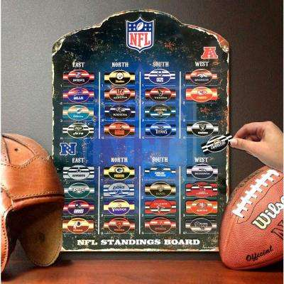 18.5 in. H x 13.5 in. D NFL Magnetic Standings Board Wall Art