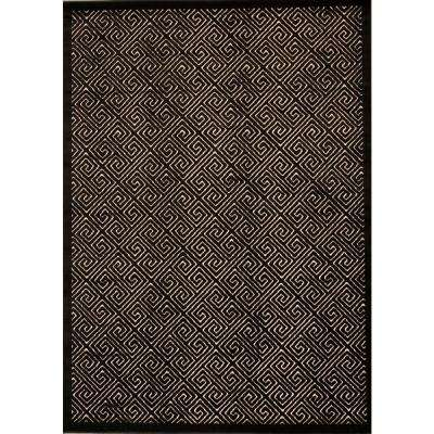 Ultima Ivory/Black 2 ft. 6 in. x 4 ft. Accent Rug