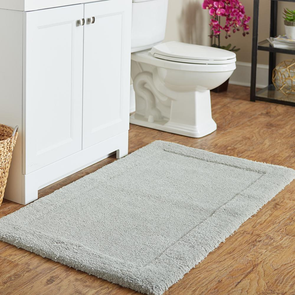 Mohawk Home Dynasty 20 In X 34 Micro Denier Polyester Bath Mat Gray