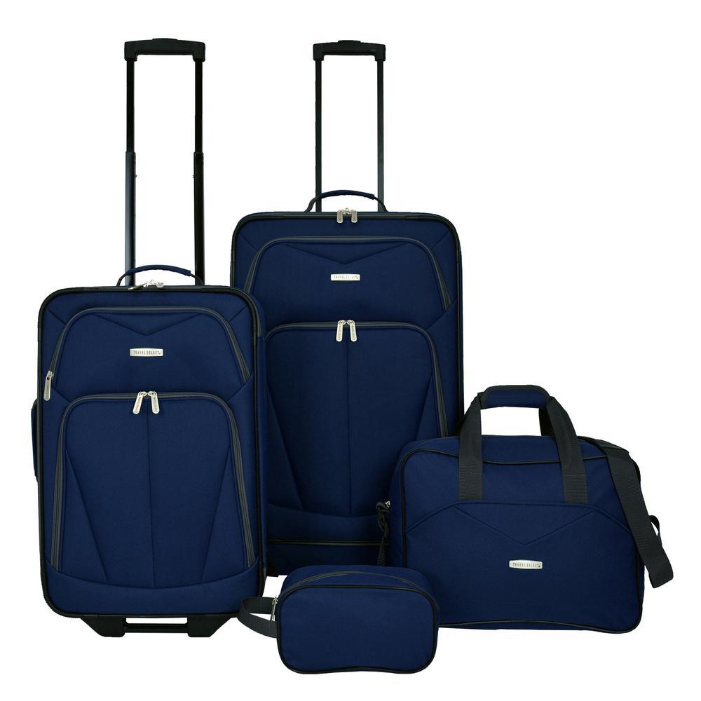 Kingway 4-Piece Navy Luggage Set