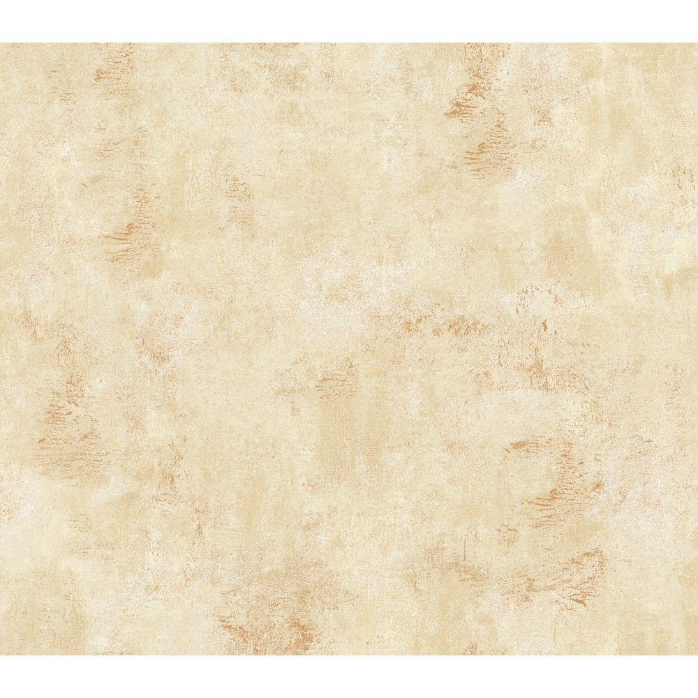 The Wallpaper Company 56 sq. ft. Beige Faux Texture Wallpaper