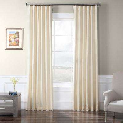 Vireo Faux Raw Silk Curtain in Ivory  - 50 in. W x 108 in. L