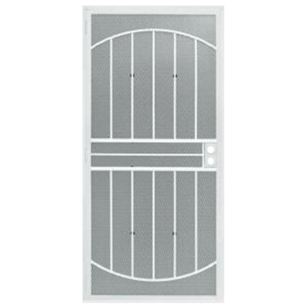 Grisham 32 in. x 80 in. 555 Series Tuscany White Steel Pr...