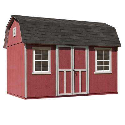 Installed Briarwood Deluxe 12 ft. x 8 ft. Wood Storage Shed with Upgrades and Black Onyx Shingles