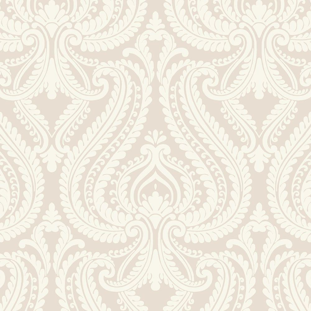 Beacon House Imperial Grey Modern Damask Wallpaper