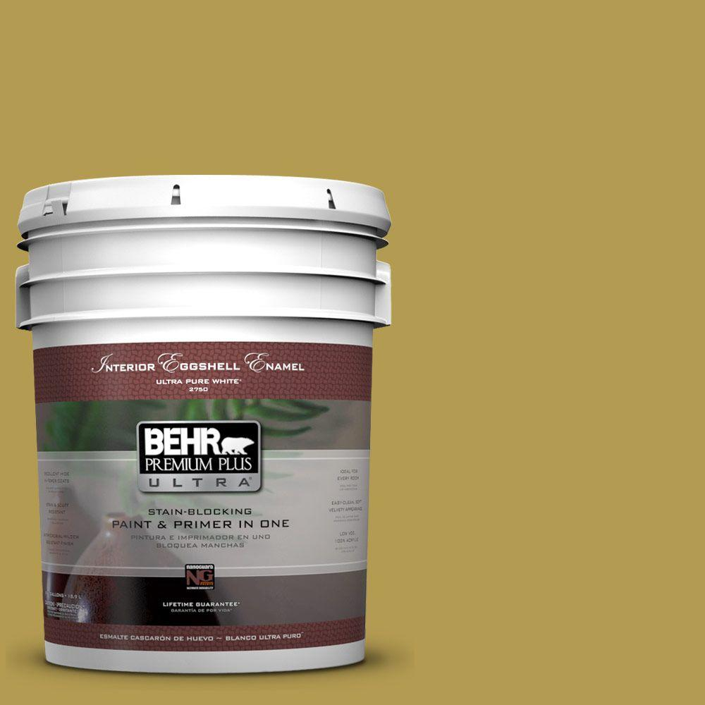 BEHR Premium Plus Ultra 5-gal. #M320-6 Tangy Green Eggshell Enamel Interior Paint
