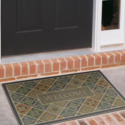 Tile Garden Welcome Impressions 24 in. x 36 in. Door Mat