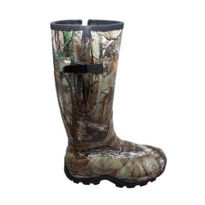 Men's Size 10 Camo Brown Rubber 17 in. Hunting Boots