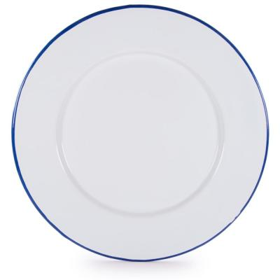 Rolled Edge Cobalt Enamelware Dinner Plate (Set of 4)