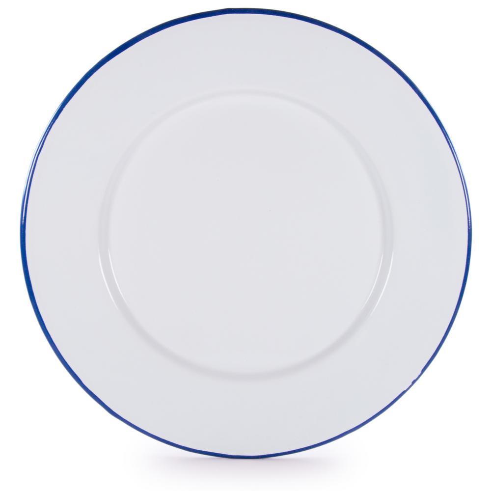 Rolled Edge Cobalt Enamelware Dinner Plate (Set of 4)