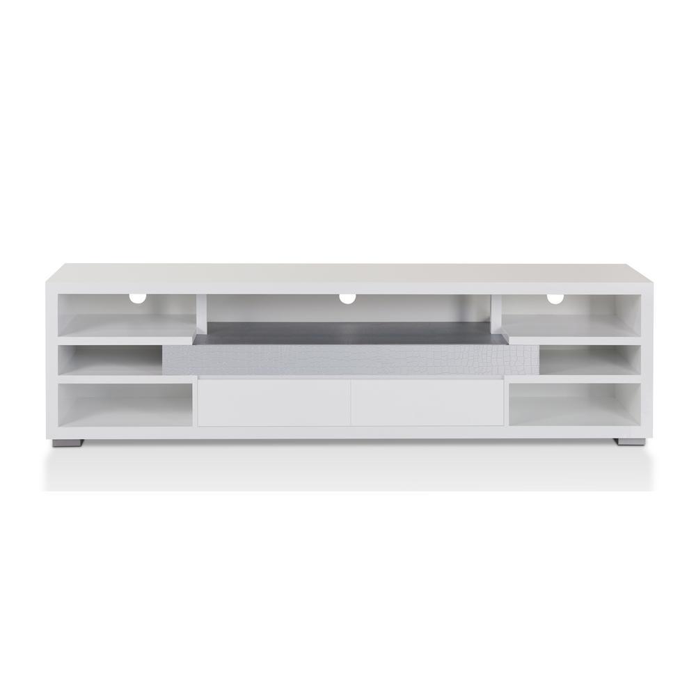 Vinician White TV Stand