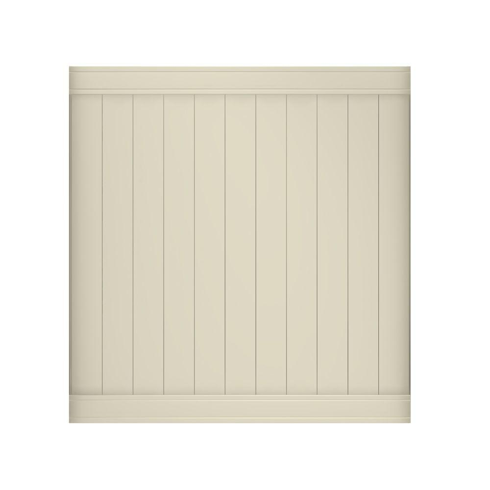 Pro-Series 6 ft. H x 6 ft. W Tan Vinyl Woodbridge