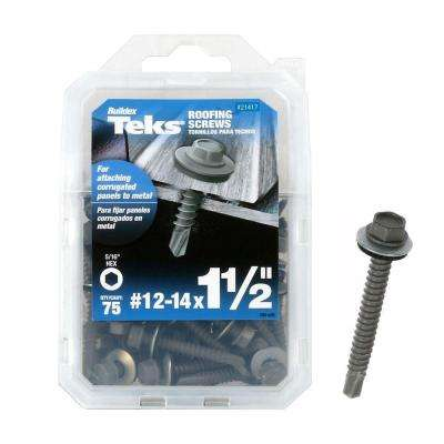 #12 x 3 in. Hex-Washer-Head Roofing Screw with Washer (75-Pieces per Pack)