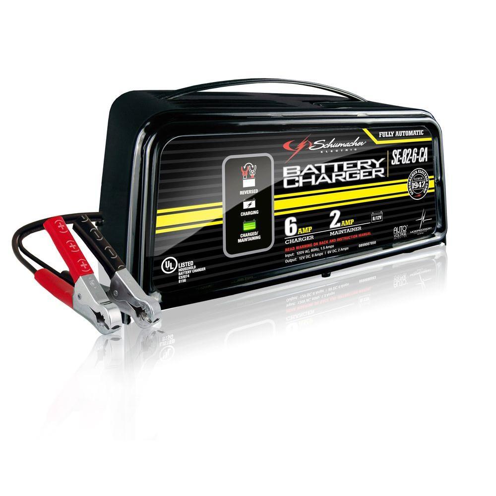 Schumacher 6-Volt/12-Volt Battery Charger/Maintainer by Schumacher