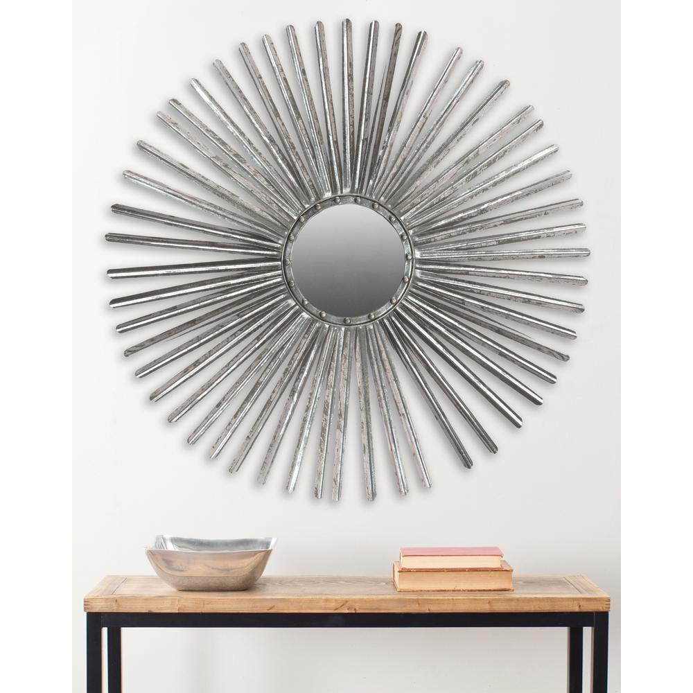 Shanira Round Silver Decorative Mirror
