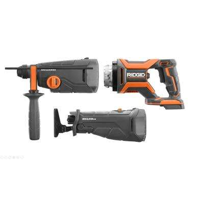 18-Volt OCTANE MEGAMax Brushless Power Base with Reciprocating Saw and 1-1/8 in. SDS Rotary Hammer Attachments